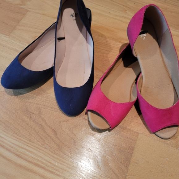 2 pairs H&M FLATS